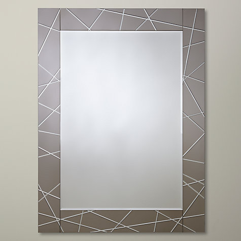 Buy John Lewis Smoke Engraved Mirror, 102 x 76cm Online at johnlewis.com