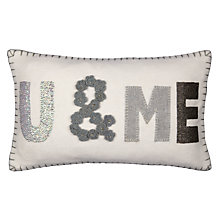 Buy John Lewis U & Me Cushion, Cream Online at johnlewis.com