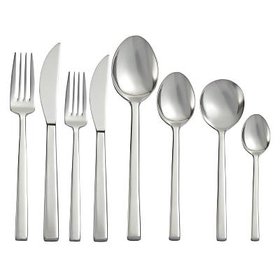 John Lewis Quadro Cutlery Set, 44 Piece