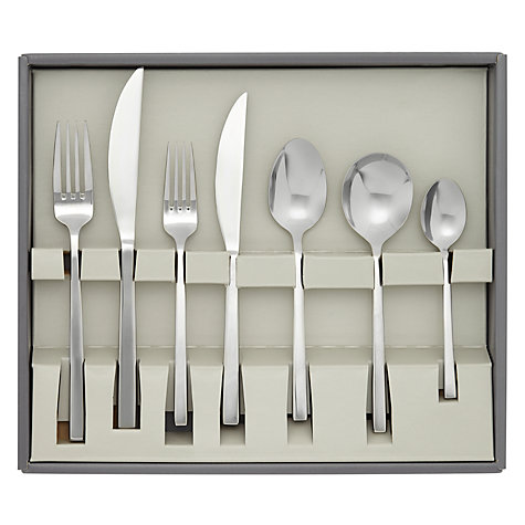 Buy John Lewis Quadro Cutlery Set, 44 Piece Online at johnlewis.com