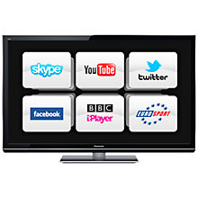 "Buy Panasonic Viera TX-P42GT50 Plasma HD 1080p 3D Smart TV, 42"" with Freesat/Freeview HD Online at johnlewis.com"