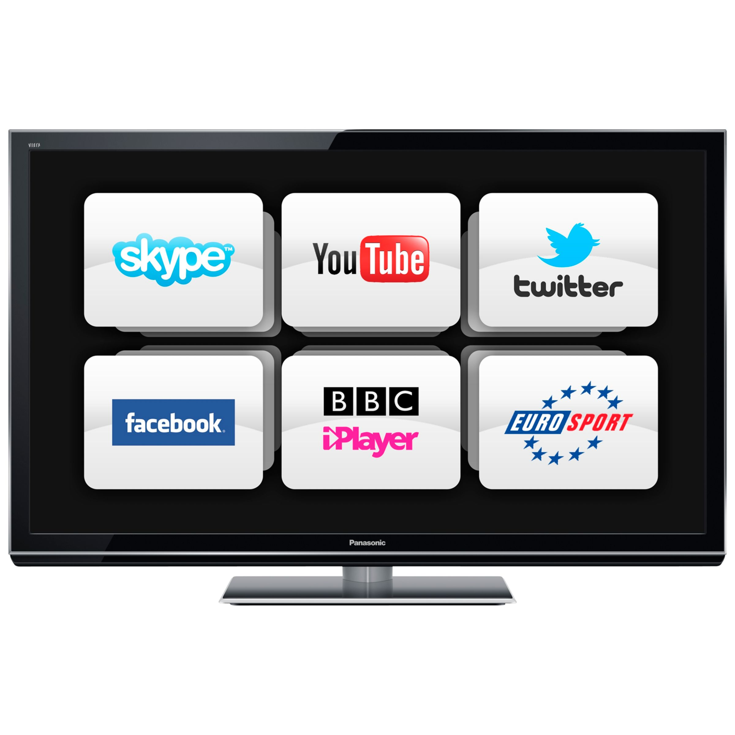 Panasonic Viera TX-P42GT50B Plasma HD 1080p 3D Smart TV, 42 Inch with Freesat/Freeview HD