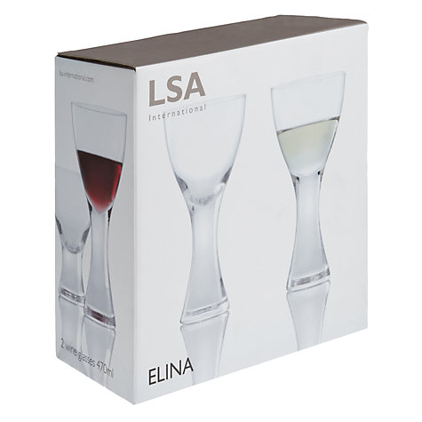 Buy LSA Elina Wine Glasses, 0.47L, Set of 2 Online at johnlewis.com