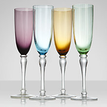 Buy John Lewis Aurora Flute Glasses, Set of 4 Online at johnlewis.com