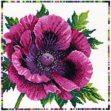 Buy Bothy Threads Purple Poppy Cross Stitch Kit Online at johnlewis.com