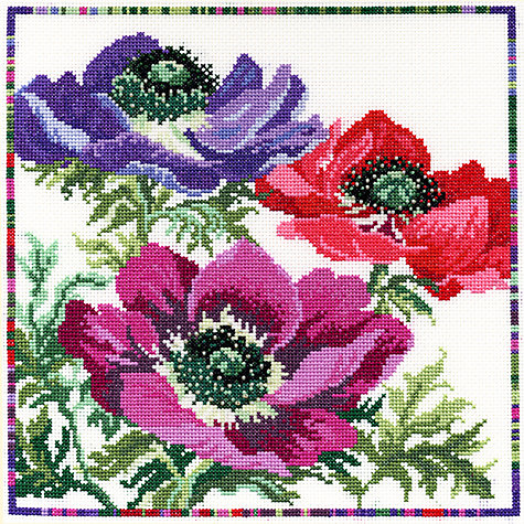Buy Bothy Threads Anemone Cross Stitch Kit Online at johnlewis.com