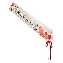 Buy Talking Tables Bride To Be Sash Online at johnlewis.com