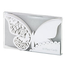 Buy Talking Tables Something In The Air Place Cards, Silver, Pack of 10 Online at johnlewis.com