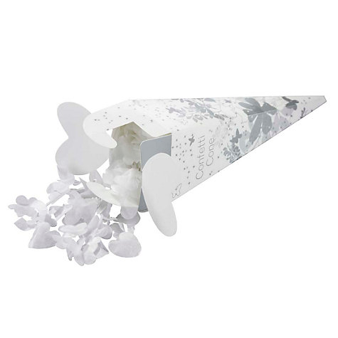 Buy Talking Tables Confetti Cone, Silver Online at johnlewis.com