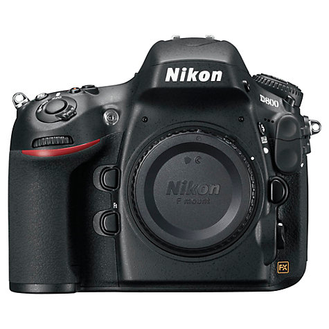 "Buy Nikon D800 Digital SLR Camera, HD 1080p, 36.3MP, 3.2"" LCD Screen, Black, Body Only Online at johnlewis.com"