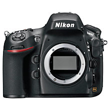 "Buy Nikon D800 Digital SLR Camera, HD 1080p, 36.3MP, 3.2"" LCD Screen, Black, Body Only with 16GB + 8GB Memory Card Online at johnlewis.com"