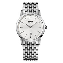 Buy Hugo Boss Men's Circular Stainless Steel Watch Online at johnlewis.com