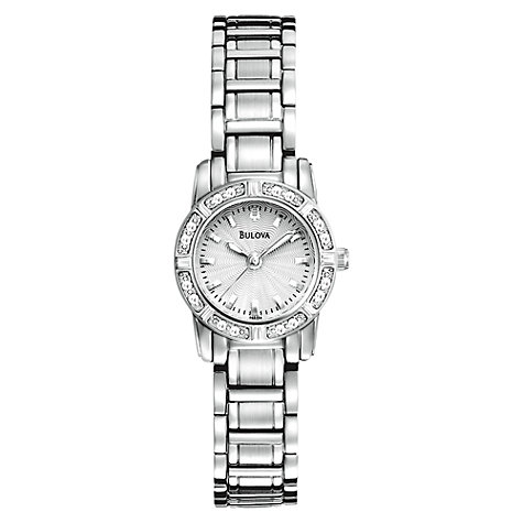 Buy Bulova 96R156 Women's Highbridge Diamond Bracelet Watch, Silver Online at johnlewis.com