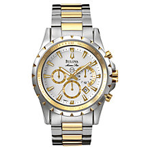 Buy Bulova 98B014 Men's Marine Star Chronograph Bracelet Watch, Silver Online at johnlewis.com