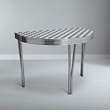 Buy Cola Red 2 Seater Half Moon Dining Table Online at johnlewis.com