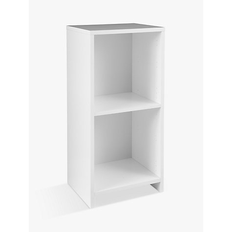 Buy House by John Lewis Oxford 1 x 2 Unit with 2 Drawers and 1 Cupboard Door Set, White/ Red Online at johnlewis.com