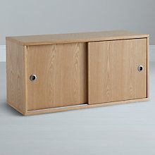 Buy John Lewis Stack Sliding Door Cabinet, Oak Online at johnlewis.com