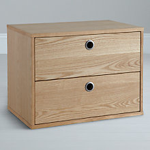 Buy John Lewis Stack 2-drawer Cabinet, Oak Online at johnlewis.com