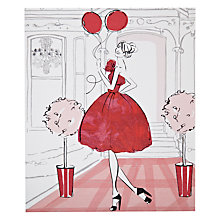 Buy Card Mix Girl With Balloons Greeting Card Online at johnlewis.com