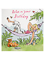 Woodmansterne Lady In Hammock Birthday Card