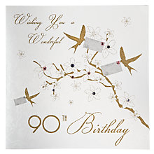 Buy Five Dollar Shake 90th Birthday Card Online at johnlewis.com