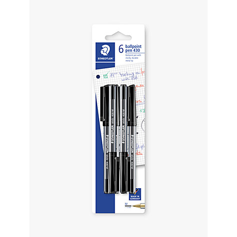 Buy Staedtler Ballpoint Pen, Black, Pack of 6 Online at johnlewis.com
