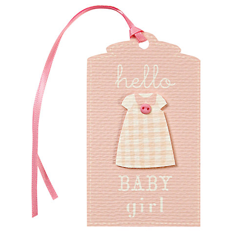 Buy Meri Meri Baby Girl Gift Tag, Pink Online at johnlewis.com