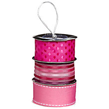 Buy John Lewis Ribbon Spool, Fuchsia Mix, Pack of 3 Online at johnlewis.com