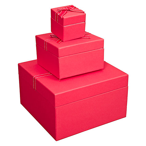 Buy John Lewis Jewellery Box, Red Online at johnlewis.com