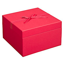 Buy John Lewis Trinket Box, Red, Large Online at johnlewis.com