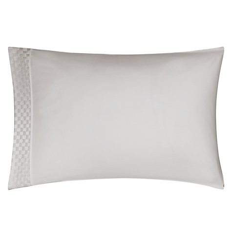 Buy John Lewis Phoebe Lattice Standard Pillowcase, Mist Online at johnlewis.com