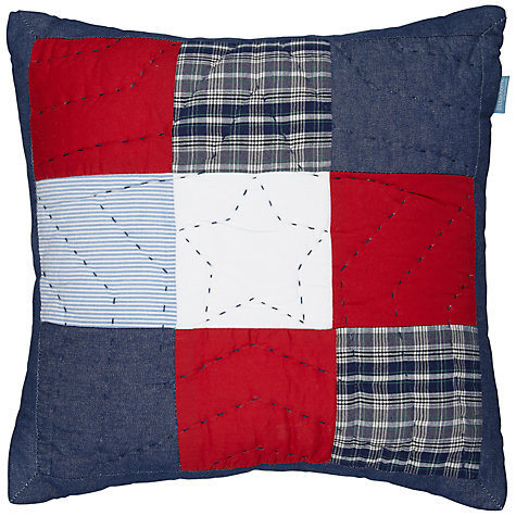 Buy little home at John Lewis Stars 'n' Stripes Cushion, Multi Online at johnlewis.com