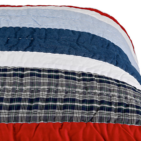 Buy little home at John Lewis Stars & Stripes Cotton Quilt, Multi Online at johnlewis.com