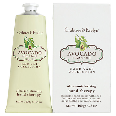 Buy Crabtree & Evelyn Avocado, Olive and Basil Ultra-Moisturising Hand Therapy, 100ml Online at johnlewis.com