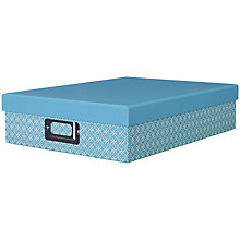 Buy John Lewis New Japan Box with Lid, Aqua Online at johnlewis.com