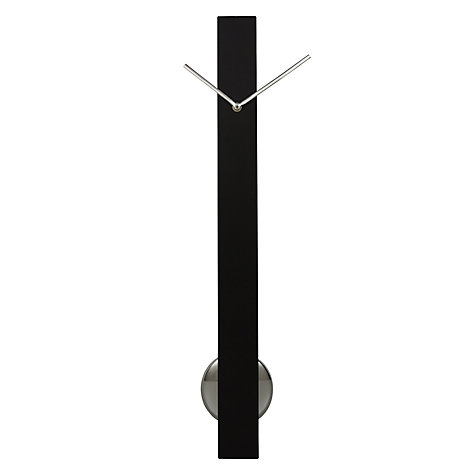 Buy John Lewis Sia Pendulum Clock, H65 x W6 x D6cm, Black Online at johnlewis.com