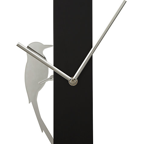 Buy John Lewis Sia Bird Clock, H65 x W6 x Dia.6cm, Silver Online at johnlewis.com