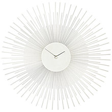 Buy John Lewis Spike Clock, Dia.45cm, Silver Online at johnlewis.com
