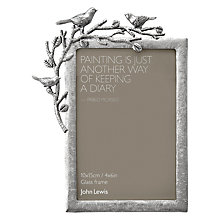 "Buy John Lewis Pewter Bird Photo Frame, 4 x 6"" (10 x 15cm) Online at johnlewis.com"
