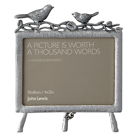"Buy John Lewis Pewter Bird Photo Frame, 3.5 x 5"" (9 x 13cm) Online at johnlewis.com"