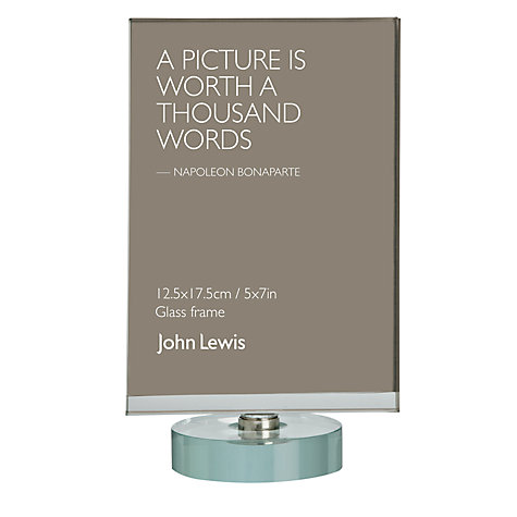 "Buy John Lewis Spinn Glass Photo Frame, 5 x 7"" (13 x 18cm) Online at johnlewis.com"