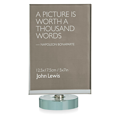 "Buy John Lewis Multi-aperture Spinning Glass Frame, 2 Photo, 5 x 7"" (13 x 18cm) Online at johnlewis.com"