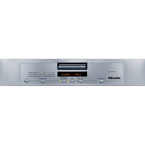 Buy Miele G5620SC CLST Dishwasher, Clean Steel Online at johnlewis.com