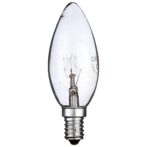 Buy Calex 7W SES Candle Bulb, Clear Online at johnlewis.com