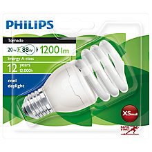 Buy Philips Spiral Daylight ES Bulb, 20W Online at johnlewis.com