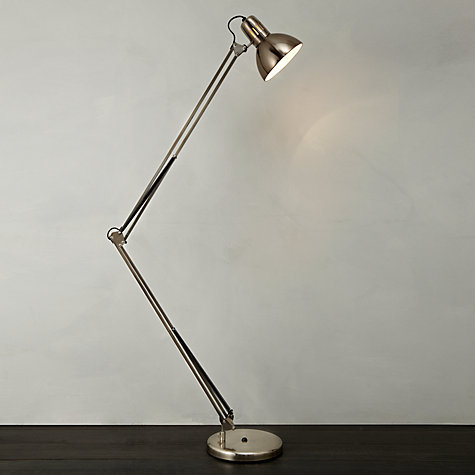 Buy John Lewis Mike Floor Lamp, Antique Nickel Online at johnlewis.com