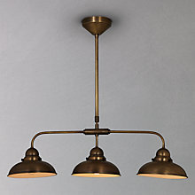 Buy John Lewis Antonio Lamp, Brass, 3 Lights Online at johnlewis.com