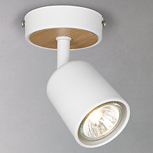 Buy John Lewis Arba Single Spotlight, Wood and White Online at johnlewis.com