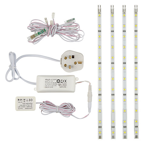 Buy John Lewis Bright Lynx LED Lighting Strip Kit, Set of 4 Online at johnlewis.com