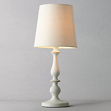 Buy John Lewis Cecilia Wood Lamp, White Online at johnlewis.com